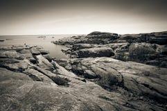 Costa rocciosa all'estremità di Verdens, Norvegia Immagini Stock Libere da Diritti