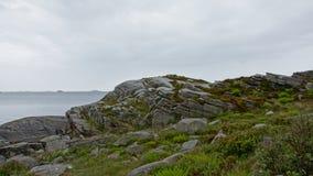 Costa rocciosa del Mare del Nord in Norvegia Immagine Stock Libera da Diritti