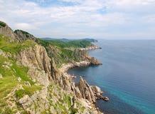 Costa rocciosa del mare di Giappone Immagine Stock