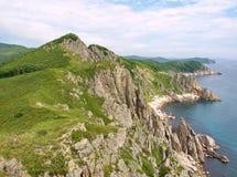 Costa rocciosa del mare di Giappone Fotografia Stock Libera da Diritti