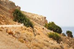 Costa rocciosa di Creta Immagine Stock Libera da Diritti