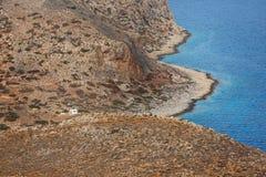 Costa rocciosa di Creta Immagini Stock Libere da Diritti