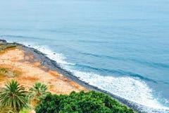 Costa rocciosa di Tenerife, canarino immagine stock libera da diritti