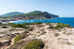 Costa rochosa de Sardinia, Itália Foto de Stock Royalty Free