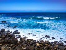 Costa rochosa de Tenerife em Puerto de Santiago, Tenerife fotos de stock royalty free