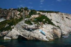 Costa rochosa de Zakynthos foto de stock royalty free