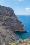 Costa rochosa do La Palma com o Oceano Atlântico, Espanha Imagem de Stock Royalty Free