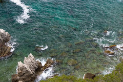 Costa rochosa do mar Fotografia de Stock Royalty Free