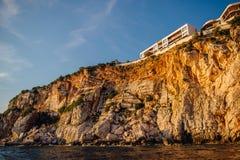 Costa rochosa do mar de adriático em Montenegro Fotografia de Stock Royalty Free
