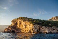 Costa rochosa do mar de adriático em Montenegro Foto de Stock Royalty Free
