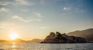 Costa rochosa do mar de adriático em Montenegro Fotos de Stock Royalty Free