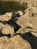 Costa rochosa do mar de adriático na Croácia Imagem de Stock Royalty Free