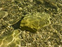 Costa rochosa do mar de adriático na Croácia Imagens de Stock