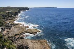 Costa rochosa do parque nacional de Booderee NSW austrália Fotos de Stock