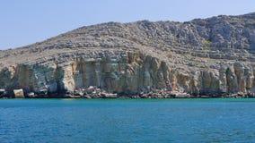 Costa rochosa no Golfo Pérsico Imagem de Stock