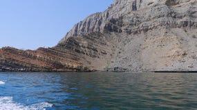 Costa rochosa no Golfo Pérsico Imagens de Stock