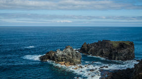 Costa rochosa perto de San Juan de la Rambla Fotografia de Stock Royalty Free
