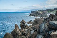 Costa rochosa perto de San Juan de la Rambla Foto de Stock