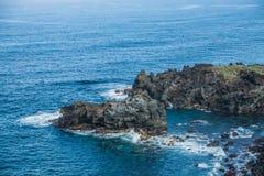 Costa rochosa perto de San Juan de la Rambla Fotografia de Stock