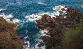 Costa rocosa cerca de San Juan de la Rambla Fotografía de archivo