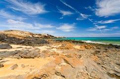 Costa Roja coastline. Coastline south east of Corralejo Royalty Free Stock Photos