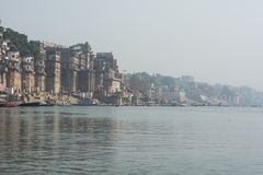 Costa sacra di Gange - Varanasi, India Immagine Stock Libera da Diritti