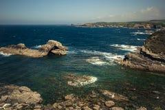 Costa salvaje del océano Fotos de archivo libres de regalías