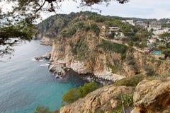Costa costa salvaje hermosa Fotografía de archivo libre de regalías