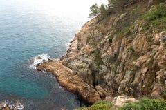 Costa costa salvaje hermosa Imagen de archivo libre de regalías