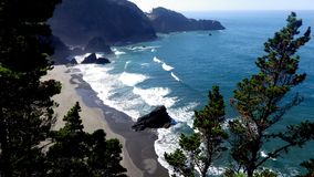 Costa selvagem de Oregon, Estados Unidos Imagens de Stock Royalty Free