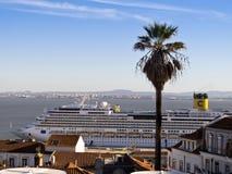 Costa Serena Cruise Ship Fotografering för Bildbyråer