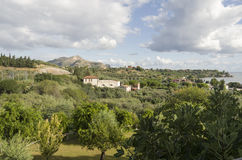 Costa siciliana Fotografie Stock