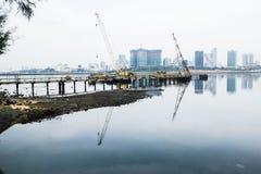 Costa Singapur de los arbolados fotografía de archivo libre de regalías