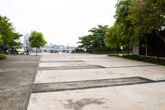 Costa Singapur de los arbolados imagen de archivo