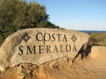 Costa Smeralda Stockbild