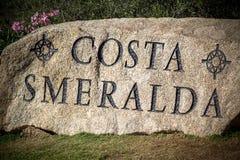 Costa Smeralda firma adentro Cerdeña foto de archivo libre de regalías