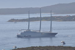 Luxury motor yacht A Stock Image