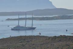 Luxury motor yacht A Royalty Free Stock Photos