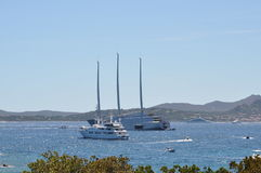 Luxury motor yacht A Stock Photography