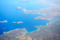 Costa Smeralda shoreline seen from above Stock Images