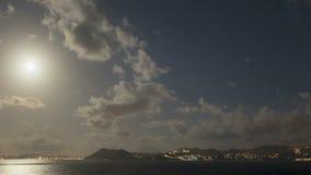 Costa St Lucia del claro de luna del lapso de tiempo almacen de metraje de vídeo