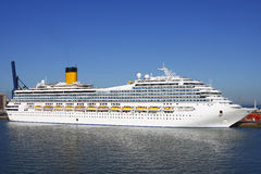 Costa statek wycieczkowy Obrazy Royalty Free