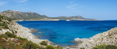 Costa sud della Sardegna Immagine Stock