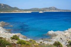 Costa sud della Sardegna Fotografia Stock Libera da Diritti