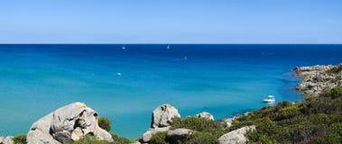 Costa sud della Sardegna Immagini Stock