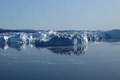 Costa sud di Ilulissat degli iceberg, Groenlandia Fotografie Stock Libere da Diritti