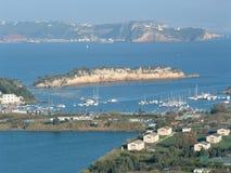 Costa sud di Napoli Immagini Stock
