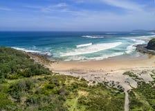 Costa sud a distanza Australia della spiaggia fotografie stock libere da diritti
