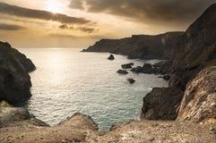 Costa sud Inghilterra di tramonto del paesaggio Fotografia Stock Libera da Diritti