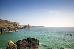 Costa sud Inghilterra di tramonto del paesaggio Immagini Stock Libere da Diritti
